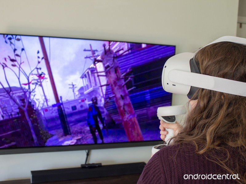 Oculus Quest 2 Walking Dead Playing