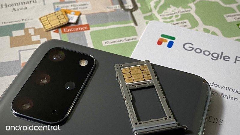 Google Fi Sim on map