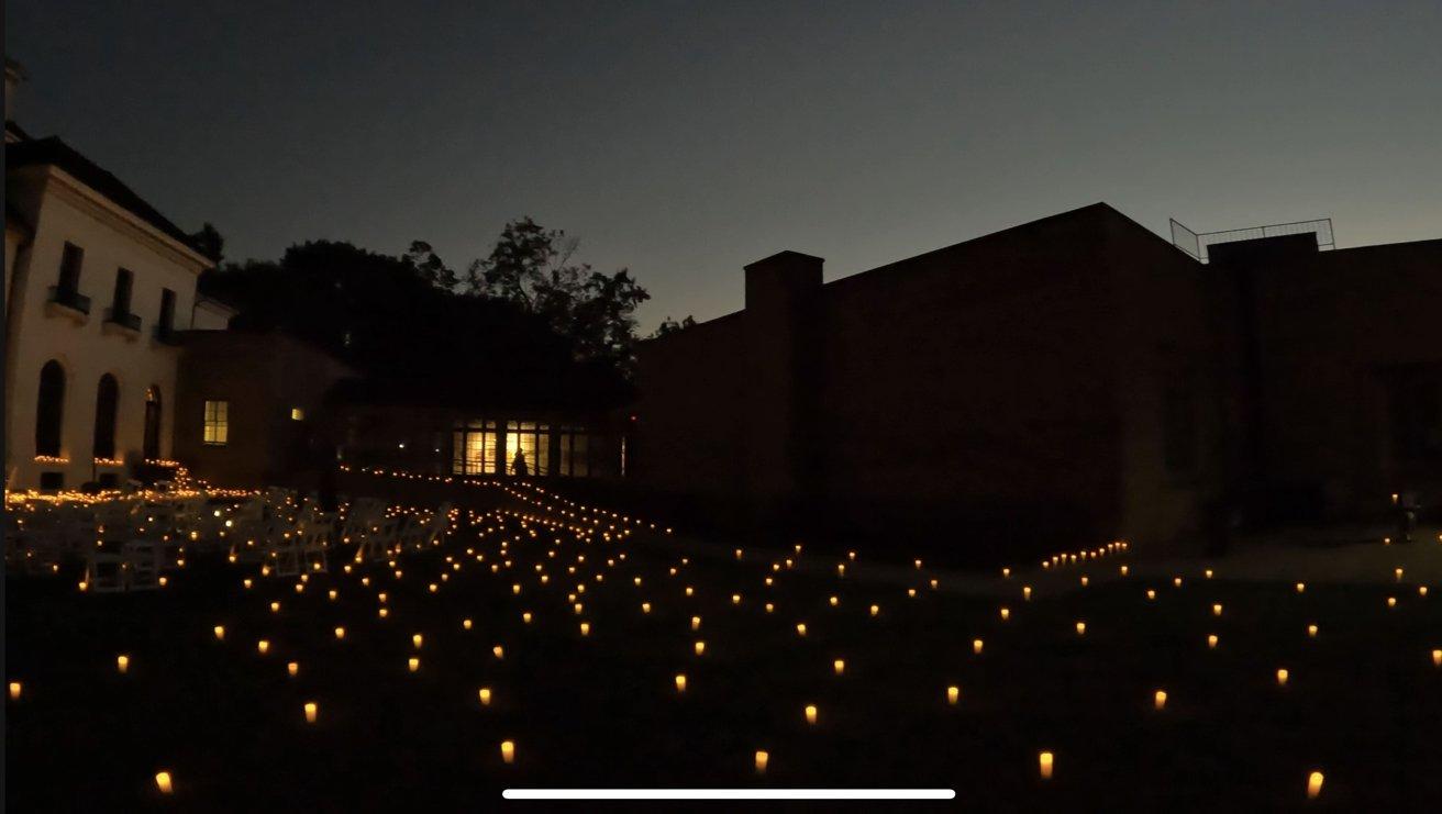 A still from a 4K night video